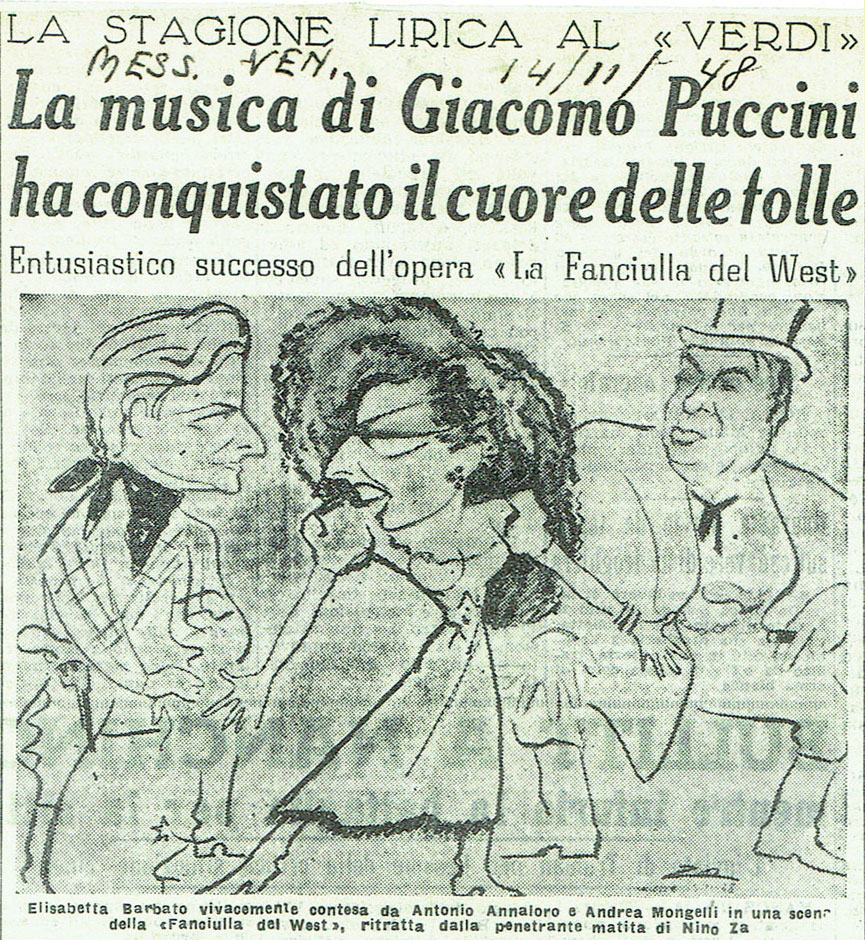 vignetta di Fanciulla del West